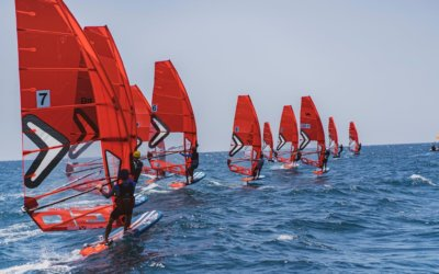 Severne HGO sail in action for first ever iQFOiL race in Israel