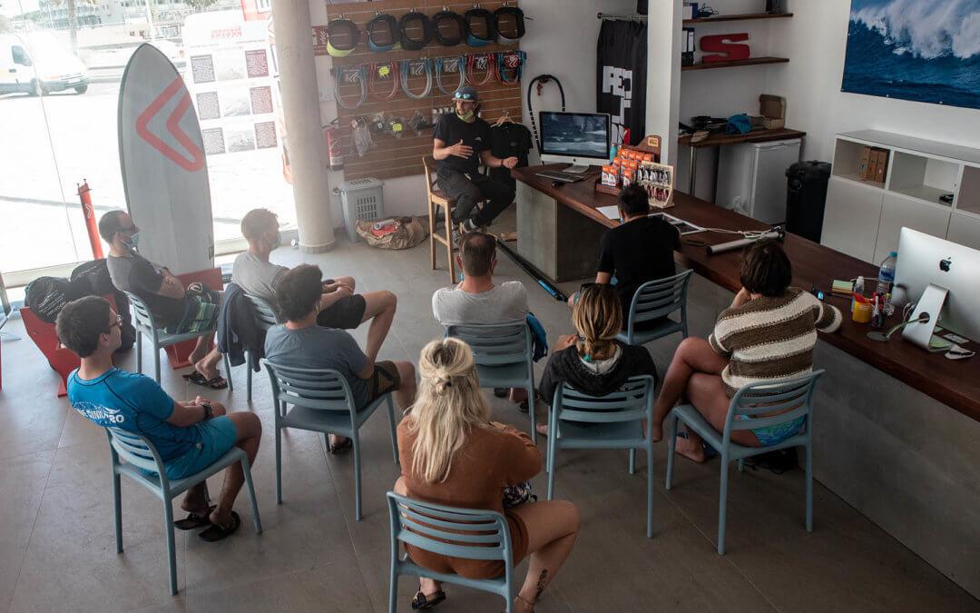 Advanced coaching with Dieter Van der Eyken, premium equipment at Surf Hub Tenerife